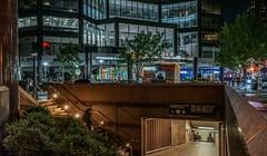 City Levels (Jeffrey Friedkin) Tags: street city nyc newyork architecture night buildings subway lights manhattan streetscene starbucks cityscene newyorkphoto newyorkscene