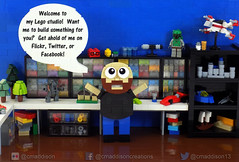 Shameless Self Promotion (cmaddison) Tags: studio toy lego character micro commission socialmedia