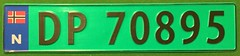 NORWAY CURRENT ---FLAG PLATE, TRUCK (woody1778a) Tags: norway 2012 europe europa registrationplate numberplate licenseplate mycollection myhobby alpca