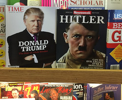 Interesting juxaposition of covers on the magazine rack at a local bookstore (wandering tattler) Tags: politics hitler trump 2016