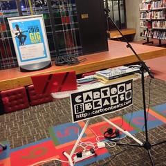 Haszari Live at the Library (cartoonbeats) Tags: library techno dunedin hopscotch ironing haszari laptoplive technotable cartoonbeats