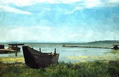 The stillness of the lake (enzo rettori) Tags: lake trasimeno stillness water calm quiet tranquility umbria spring enzorettori watercolor
