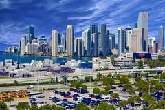 View of the city of Miami's Brickell Avenue skyline (Jorge Marco Molina) Tags: usa building architecture skyscraper cosmopolitan downtown cityscape metro florida miami metropolis metropolitan density southflorida centralbusinessdistrict sunshinestate miamidadecounty brickellavenue jorgemolina nikond7100