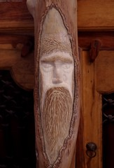 log green man carving (Simon Dell Photography) Tags: diy home hand made wood carvings log tree green man face detail simon dell art sheffield 2016 fairy house idea novice new starter beginer how awsome xxx