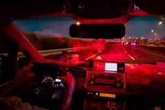 Altar (GavinZ) Tags: cellphone red taxi car taipei taiwan reflections altar buddist people asia