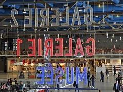 Pompidou Center Lobby (AntyDiluvian) Tags: trip signs paris france museum gallery lobby galleries artmuseum pompidoucenter beaubourg 2015