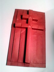 Cross of Lorraine (orig4mi.) Tags: paper origami cross lorraine folding caravaca anjou