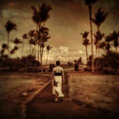Walking toward the ocean, Hana... (allophile) Tags: maui hipstamatic tintype tintypeapp mobilephotography shotoniphone6s iphoneography hawaii travaasa hana