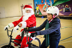 IMG_5577edit (Philadelphia Parks and Recreation) Tags: santa family winter holiday kids event giveaway adults westphilly pinkbike district8 pumptrack carouselhouse sharetheride