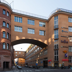 stockholm - city walk misc 30 (Doctor Casino) Tags: road architecture postoffice bridges architect bridgeofsighs squarecrop arched spanning postgirot centralposthouse postgirohuset