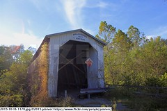 2015-10-16 1170 (Badger 23 / jezevec) Tags: pictures travel bridge vacation tourism arquitetura architecture rural america puente photography photo arquitectura midwest unitedstates image photos indiana images ponte american covered coveredbridge architektur pont brug thingstodo brcke   architettura architectuur arkitektur 1100  destinations midwestern architektura silta   arhitektura ponticello pontcouvert  pontecoberta        arhitektuur overdektebrug   lvka puentecubierto berdachtebrcke stavebnictv overdkketbro katettusilta    dekketbroen pokrytemostu  omfattasbro