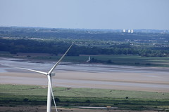 Wind turbine on Frodsham marshes, Cheshire. (Barry Miller _ Bazz) Tags: lens landscape windturbine rivermersey 400mmf56l halelighthouse helsbyhill canon5dmk2