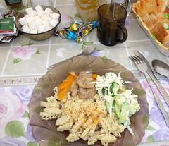 "Lunch at ""Ak-sai Travel"" Base Camp (twiga269  FEMEN #JeSuisCharlie) Tags: lenin mountain montagne asia border central peak spit pic wanderlust climbing mountaineering summit asie tajikistan kyrgyz om montaa kyrgyzstan crevasse montanha ascension pik alpinisme pamir centrale lnine alpinism osh grieta sommet  cumbre kirghizistan   tadjikistan kirghizstan terdav andinismo   terredaventure kirghizie gbao tadzhikistan  gornobadakhshan 7134m republicoftajikistan tojikiston    tajikestan twiga269  jomhuriye      asc034 aksaitravel o rpubliquedutadjikistan jumhurii secondhighestpoint lumixtz20 picabualiibnsina whatareyoutrainingfor"