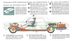 1961 Oldsmobile (Hugo90-) Tags: auto car ads advertising automobile dynamic 98 vehicle rocket catalog 88 brochure 1961 olds oldsmobile skyrocket