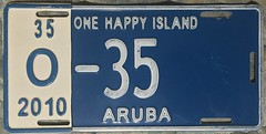 ARUBA 2010 ---LICENSE PLATE with HALF YEAR TAB (woody1778a) Tags: aruba licenseplate numberplate mycollection myhobby alpca1778 licenses 2010 2007 carrier caribbean