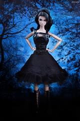 Lillith ITBE Hard Metal (ArLekin26113) Tags: blackdress integrity lillith blackblue fashionroyalty itbe hardmetal nuface greteloutfit greteldress