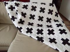 Swiss-cross-quilt_000009 (irina_vykhrestiuk) Tags: modern quilt handmade homemade twin kid child patchwork bedding bed quilting memory throw