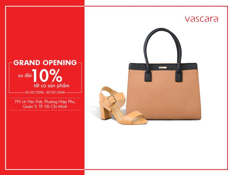 Grand Opening Vascara Lê Văn Việt - Ưu đãi 10% tất cả sản phẩm