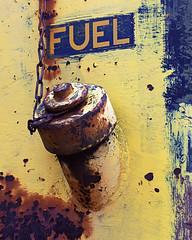Fuel. (Joseph Skompski) Tags: old railroad signs sign train rust rusty maryland trains baltimore bo oldsign railroadmuseum baltimoremd borailroadmuseum borailroad