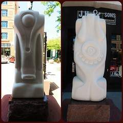 TWO SIDES OF THIS ONE SCULPTURE (Visual Images1) Tags: sculpture southdakota diptych siouxfalls picmonkey