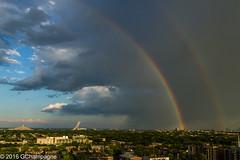 #25 Temps - Temps d'orage (gigichamp) Tags: en canada rainbow montral montreal arc olympicstadium arcenciel stadeolympique 2016 qubec projet52photos52thmes52semaines