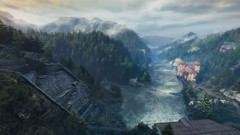 VOEC - 036 (Screenshotgraphy) Tags: sunset sky mountain lake game nature colors architecture clouds contrast montagne landscape pc screenshot lumire couleurs country lac ethan steam gaming ciel beaut carter concept nuages paysage vanishing campagne beautifull jeu naturelle urbain