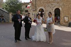 Bruiloft in San Gimignano (Roelie Wilms) Tags: sangimignano toscane italy itali italia wedding bruiloft trouwen trouwerij
