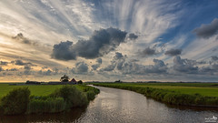 Clouds after a rainy day (BraCom (Bram)) Tags: summer sky cloud holland bird netherlands grass clouds canon ditch farm widescreen nederland meadow wolken zomer gras nl lucht 169 friesland vogel weiland sloot boerderij wolk gaasterland koudum canonef24105mm bracom canoneos5dmkiii bramvanbroekhoven