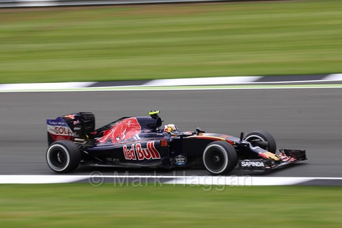 Carlos Sainz Jr in the Toro Rosso in Free Practice 1 at the 2016 British Grand Prix