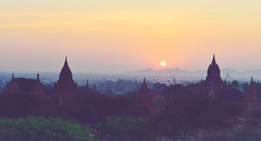 Bagan Sunrise ( Nikon Baby) Tags: copyright beautiful sunrise landscape photography golden nikon southeastasia burma country used land nano f28 2012 bagan d800 2470mm nikonafs goldenland nikonbaby prolens wwwnikonbabycom tripmyanmar