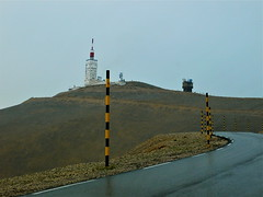 Snow poles, Mont Ventoux, France (sbally1) Tags: mountain france montventoux