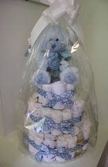 Nappy cake (Helena Pugsley) Tags: blue baby presents babyshower nappycake