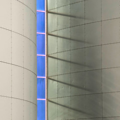 Between the lines (Arni J.M.) Tags: blue shadow reflection building glass lines metal wall architecture geotagged grey iceland islandia frames curves reykjavik perlan geotag reykjavk sland islande islanda betweenthelines nikond80