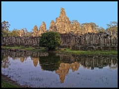 The Bayon (James Waghorn) Tags: tree heritage water reflections wonder religious ancient cambodia paradise khmer tranquility siemreap angkor thebayon heavenly bayon jayavarman cs6 bestofblinkwinners blinksuperstars