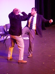 CC4K 11/05/13: Bob & Jim's Fight (Diamond Geyser) Tags: fight comedy comic southbank onstage comedian standup udderbelly comedyclub4kids sketchact bobandjim