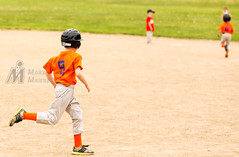 Homerun trot (MMannetti21) Tags: field grass youth ball baseball little bat ct swing glove tee league cromwell potts cleats teeball