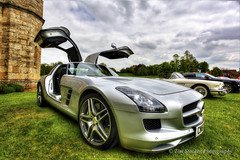 Mercedes Gullwing SLK (Tim Stocker) Tags: car silver super doorsopen canon5dmkii timstocker mercedesslkgullwing