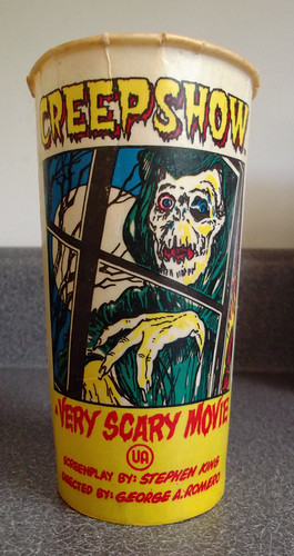 Vintage SOLO Creepshow Movie Theatre Wax Soda Cup