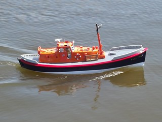 T.G.B. Lifeboat model on trials.