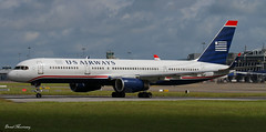 US Airways 757-200 (birrlad) Tags: ireland dublin sunlight up airplane airport haze taxi aircraft aviation airplanes line landing heat approach takeoff runway airliner