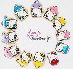 Hello Kitty Ballerina decorated cookies (Amy's Sweetcraft) Tags: hello ballet food cats cute cookies dance ballerina kitten hellokitty kitty kawaii sweets decoratedcookies customcookies