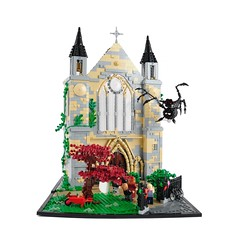 Doctor Who - Father's Day (Legopard) Tags: england church rose lego gothic doctorwho dio series hochzeit collaboration diorama britan moc legopard xenomurphy