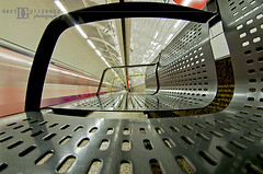 London Abstractrain I (david gutierrez [ www.davidgutierrez.co.uk ]) Tags: city uk urban abstract motion london art lines architecture speed train bench underground photography vanishingpoint contemporary interior space curves tube perspective symmetry londres lighttrail edgy  londyn lightstream    davidgutierrez pen