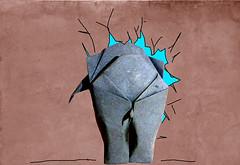 Squashed elephant (Jeremy Shafer) (Danielle Verbeeten) Tags: elephant art paper origami jeremy papier paperfolding folding olifant shafer papierkunst papiervouwen
