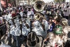 The Hot 8 Brass Band playing in the streets