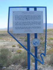 Pilot Peak Historic Marker (jimmywayne) Tags: nevada historic marker donner californiatrail pilotpeak elkocounty