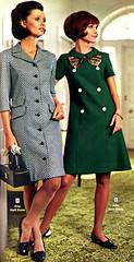 Wards 69 fw coat dresses (jsbuttons) Tags: 1969 vintage clothing 60s buttons womens clothes button catalog sixties vintageclothing buttonfront