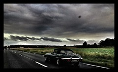 (totordenamur) Tags: old green english classic cars car vintage retro vehicle british jaguar ontheroad v12 typee