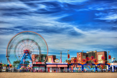 Coney Island (Matthew Pugliese) Tags: nyc newyorkcity longexposure colors brooklyn coneyisland ferriswheel lunapark hdr highdynamicrange wonderwheel coneyislandboardwalk brooklynny denoswonderwheel leefilters sigma50mm14 nycicons canon5dmarkiii leebigstopper brooklynicons vision:beach=085