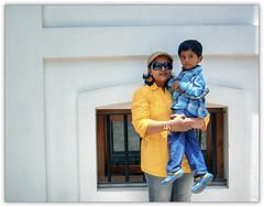 Nita and Adi at Pondicherry (Anup_Nikon D40) Tags: woman yellow kid goggles shades nita walls adi tamilnadu pondicherry anup puducherry nikond40